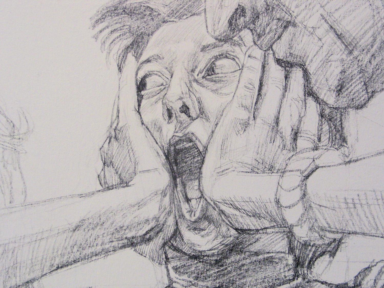 L'urlo - Matita preparatoria