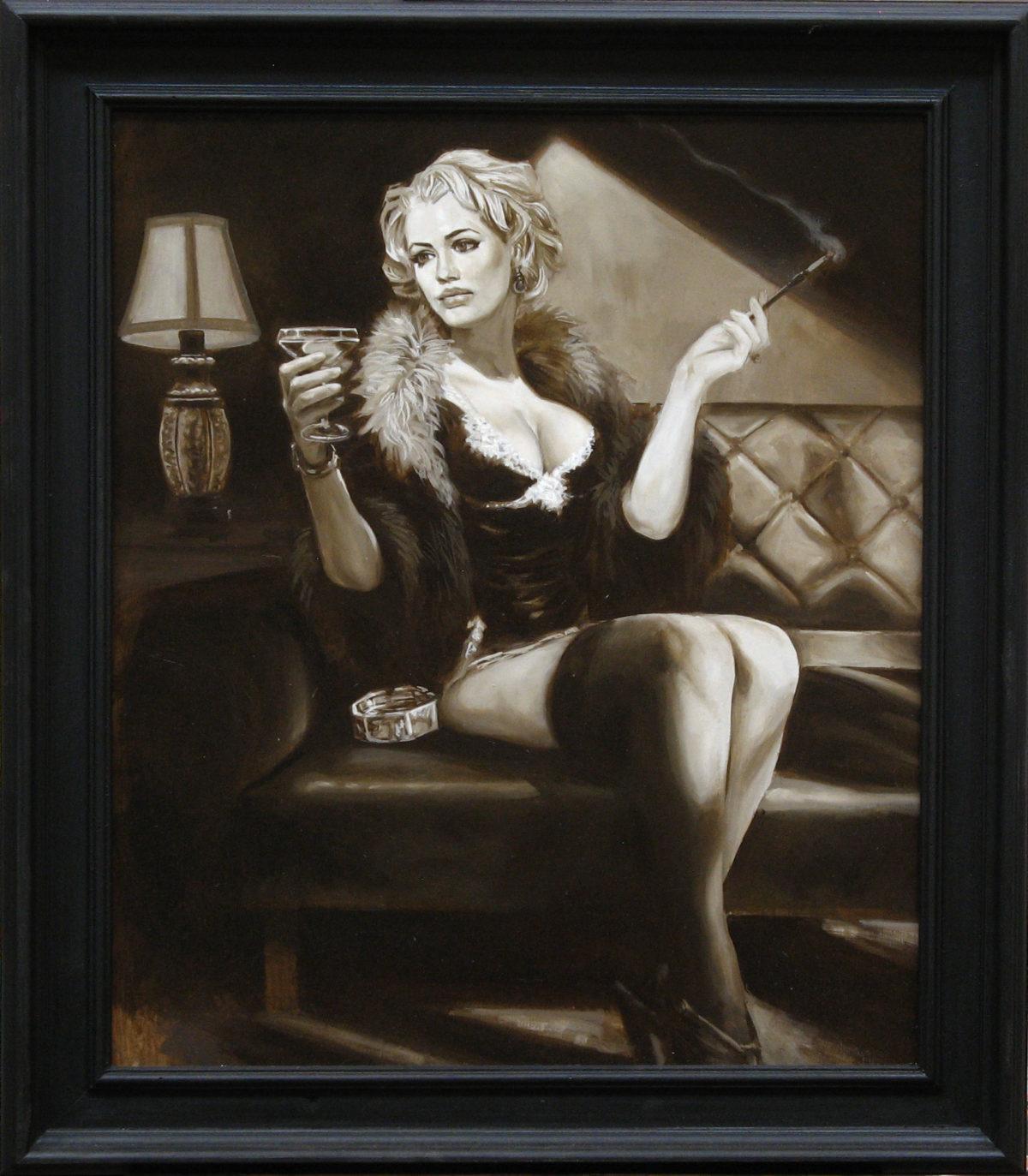 Lady Patel , olio su tavola 60x50 cm (con cornice 72x63 cm) 2017