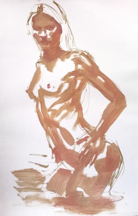 Studio di nudo femminile (work in progress)