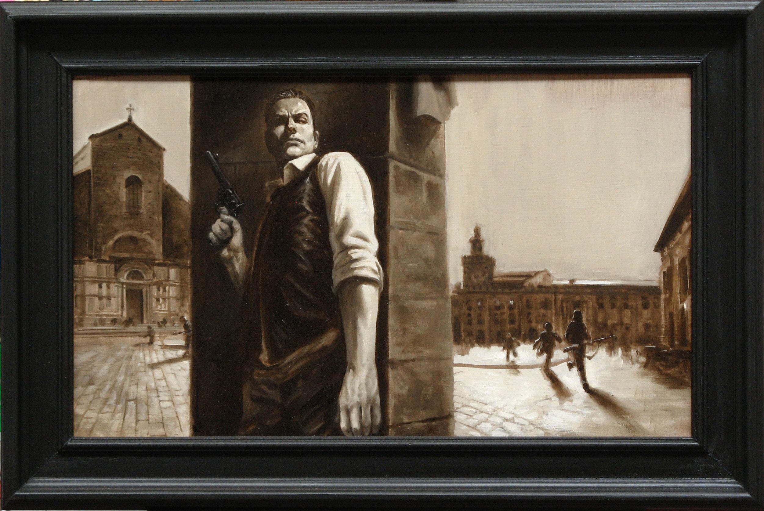 olio su tavola 40x76 cm (con cornice 53x88 cm)2017